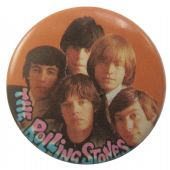 The Rolling Stones - 'Group Orange' Button Badge